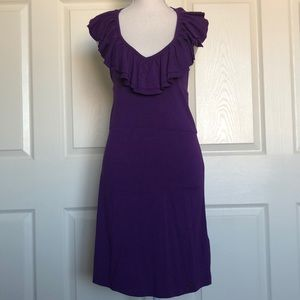 Halter openback ruffles purple NWT Buffalo David S